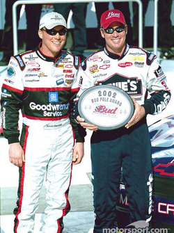Kevin Harvick and 2002 Daytona 500 Bud Pole Award winner Jimmie Johnson