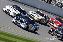 Mark Martin battles with Ryan Newman, Dale Jarrett, Brett Bodine and Elliott Sadler
