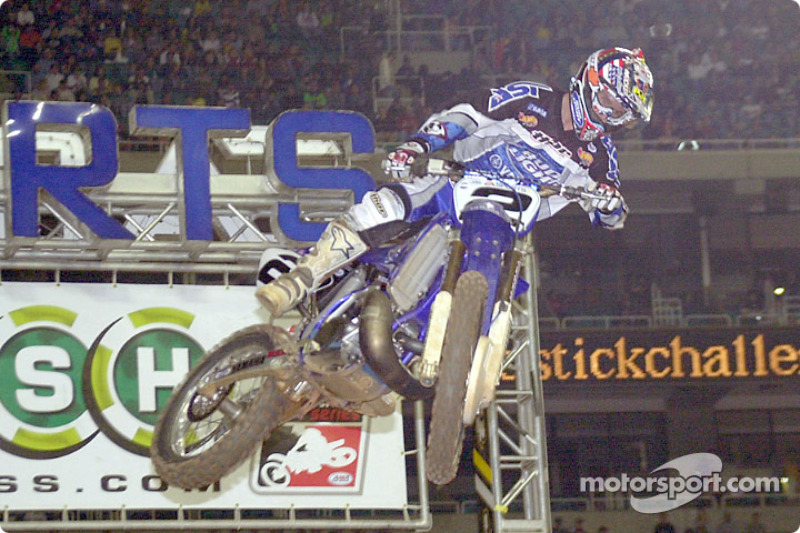 Jeremy McGrath was also racing with a touch of the flu