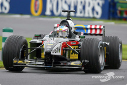 Paul Stoddart driving the 2-seater Minardi