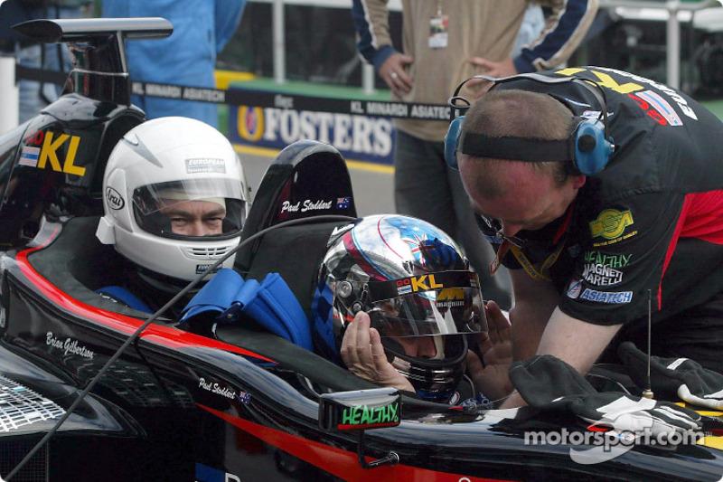 Paul Stoddart in the 2-seater Minardi