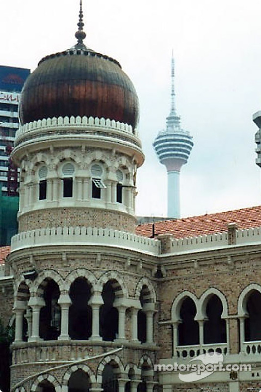 Kuala Lumpur: Abdul Samad building and the Kuala Lumpur tower in the background