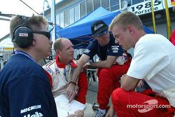 Eric Van De Poele, David Brabham and Jan Magnussen