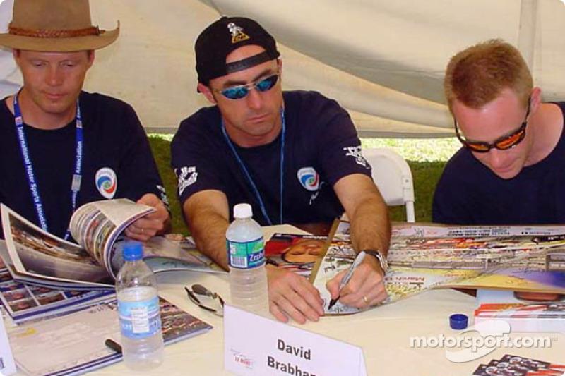 Eric Van De Poele, David Brabham and David Donohue