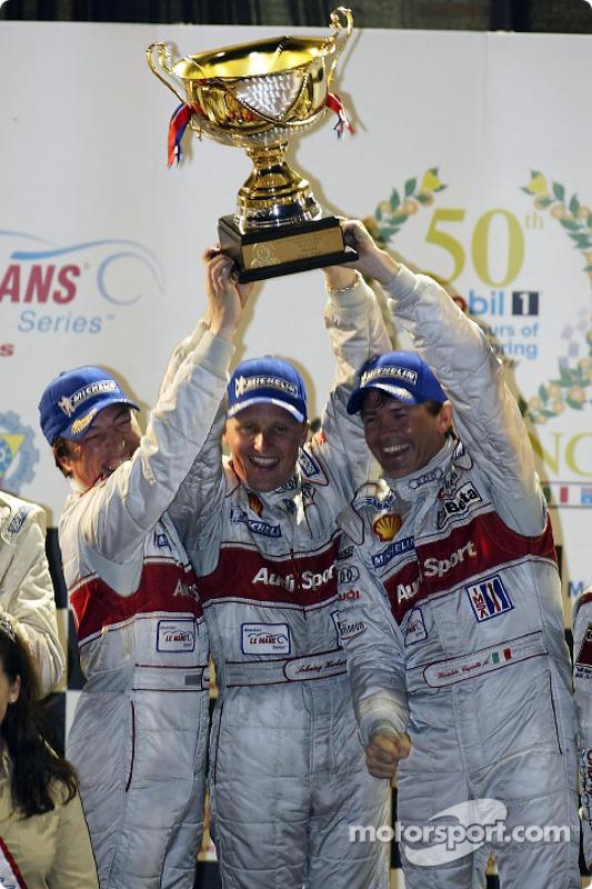 Les vainqueurs Christian Pescatori, Johnny Herbert et Rinaldo Capello