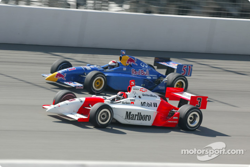 Helio Castroneves and Eddie Cheever