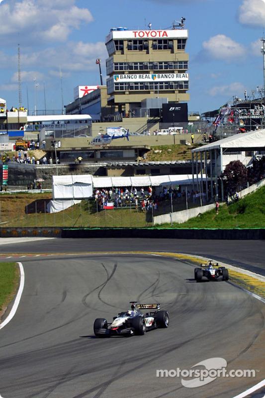 David Coulthard and Kimi Raikkonen