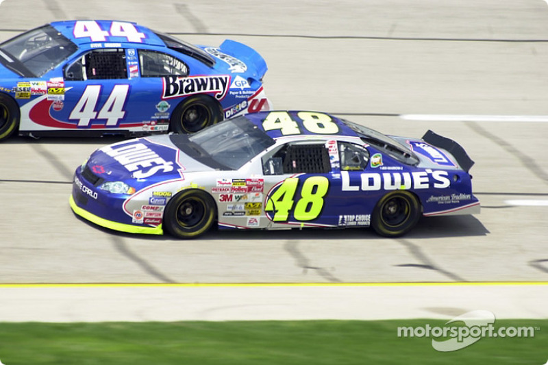 Jimmie Johnson y Steve Grissom