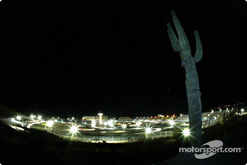 Rolex Sports Car Series night action in the desert at Phoenix International Raceway