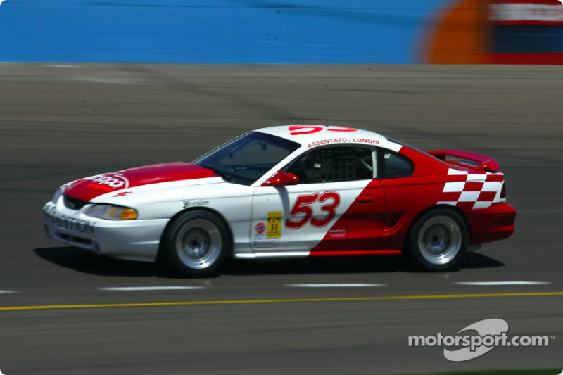 The #53 Tradition/Zippo Motorsports Ford Mustang Cobra R running up front all day