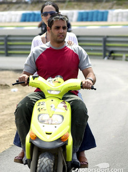 Juan Pablo Montoya and girlfriend