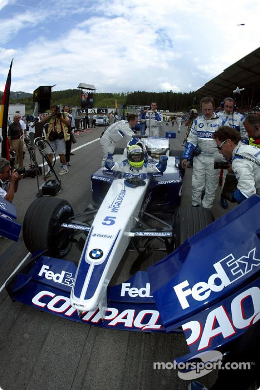 Rafl Schumacher sur la grille de départ
