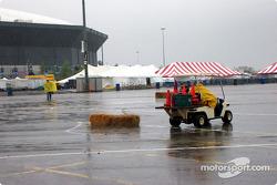 Sleet, hail, rain ends event