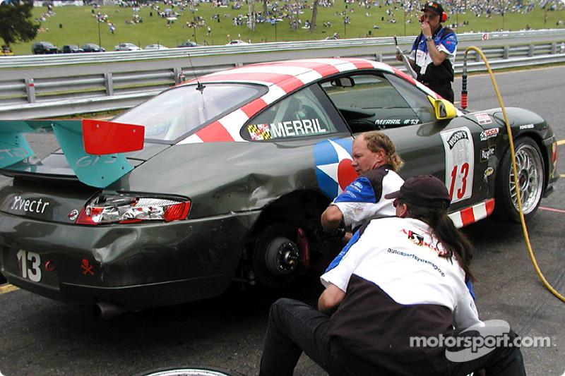 Greg Merril in the pit