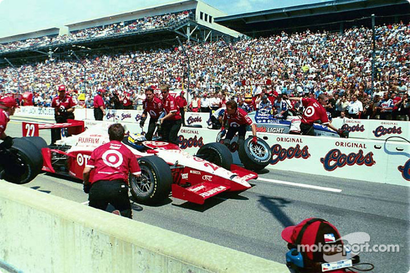 Pitstop competition: Kenny Brack and Buddy Lazier