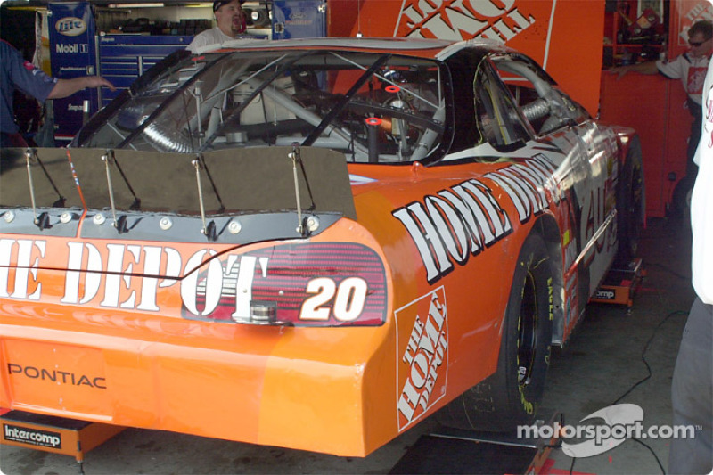 The finished body work on Stewart's car