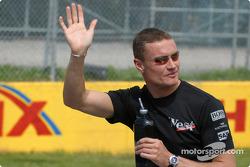 Drivers' parade: David Coulthard