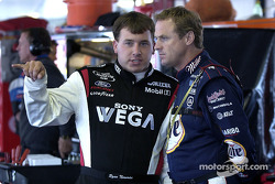 Ryan Newman and Rusty Wallace