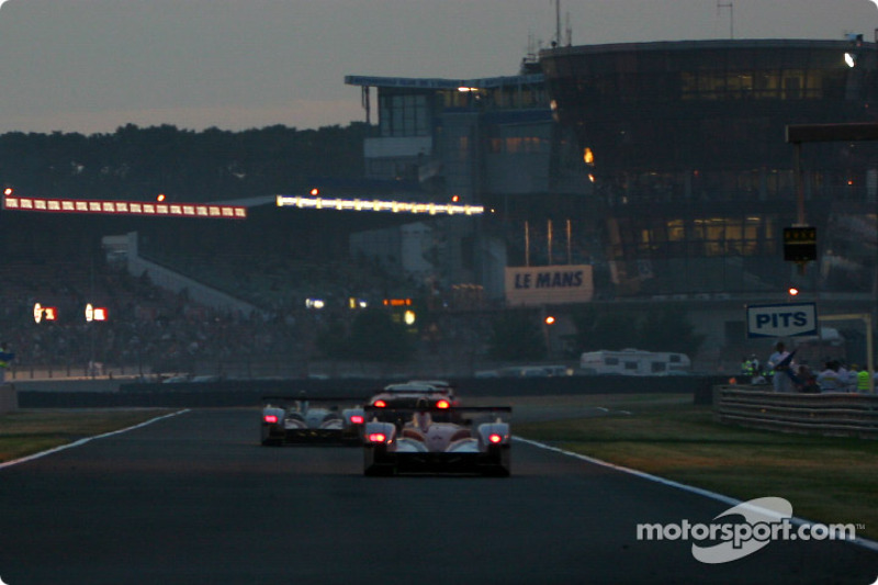 Racing at dusk