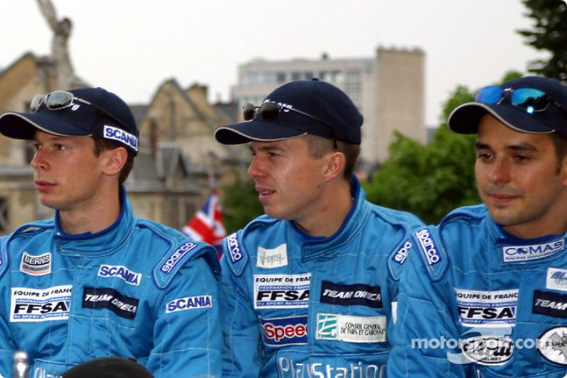 Jonathan Cochet, Benoit Treluyer y Jean-Philippe Belloc