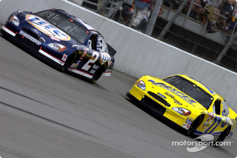 Rusty Wallace y Dave Blaney