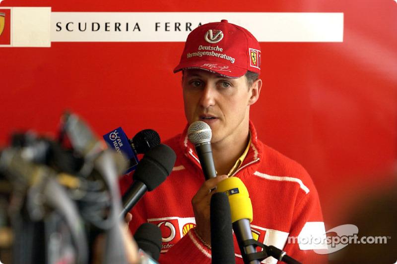 Ferrari press conference: Michael Schumacher