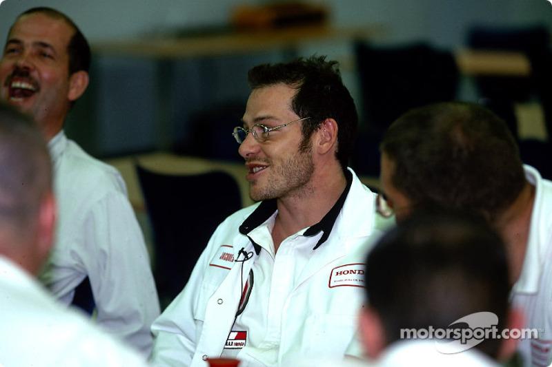 Visit of the Swindon Honda factory to celebrate the 500,000 Honda Civic: Jacques Villeneuve