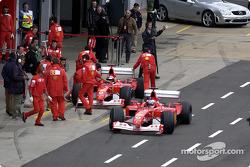 Rubens Barrichello and Michael Schumacher