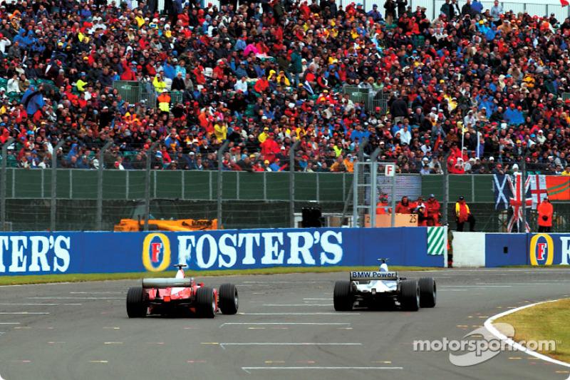 La batalla entre Juan Pablo Montoya y Michael Schumacher