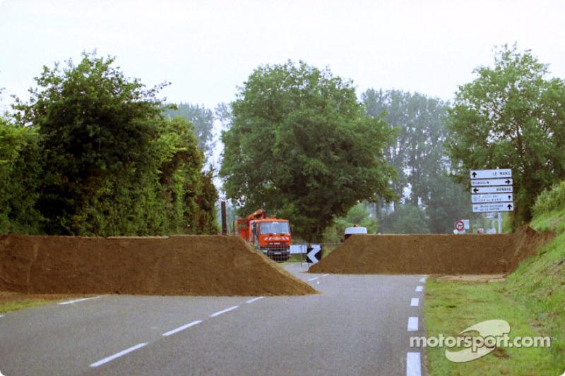 Otra vista a las curvas del Porsche, temprano la mañana del domingo