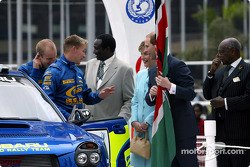 Petter Solberg with Prince Edward and his wife