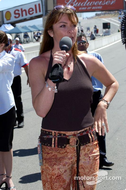 SBK broadcaster Suzi Perry