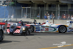 First corner: Bryan Herta now in better shape, but Johnny Herbert going into a spin