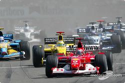 The start: Michael Schumacher