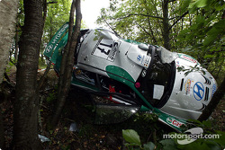 Armin Schwarz's wrecked car