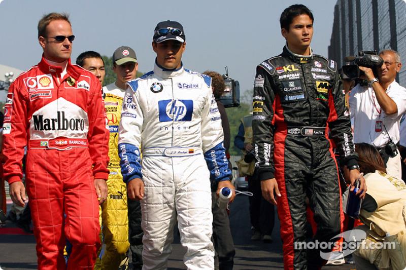 Rubens Barrichello, Juan Pablo Montoya y Alex Yoong