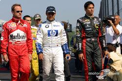 Rubens Barrichello, Juan Pablo Montoya and Alex Yoong