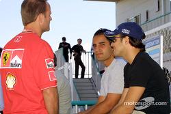 Juan Pablo Montoya, Felipe Massa and Rubens Barrichello
