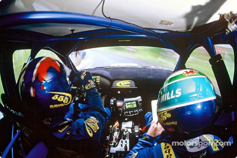 En el Subaru con Petter Solberg y Phil Mills