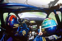 In the Subaru with Petter Solberg and Phil Mills