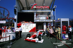 Toyota display in the paddock