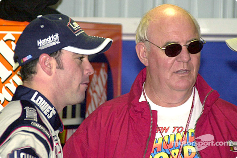 Jimmie Johnson con Benny Parsons