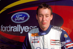 El piloto del equipo juvenil de Ford Rallye Sport, David Henderson