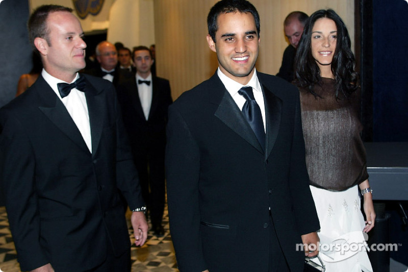 Rubens Barrichello, Connie and Juan Pablo Montoya