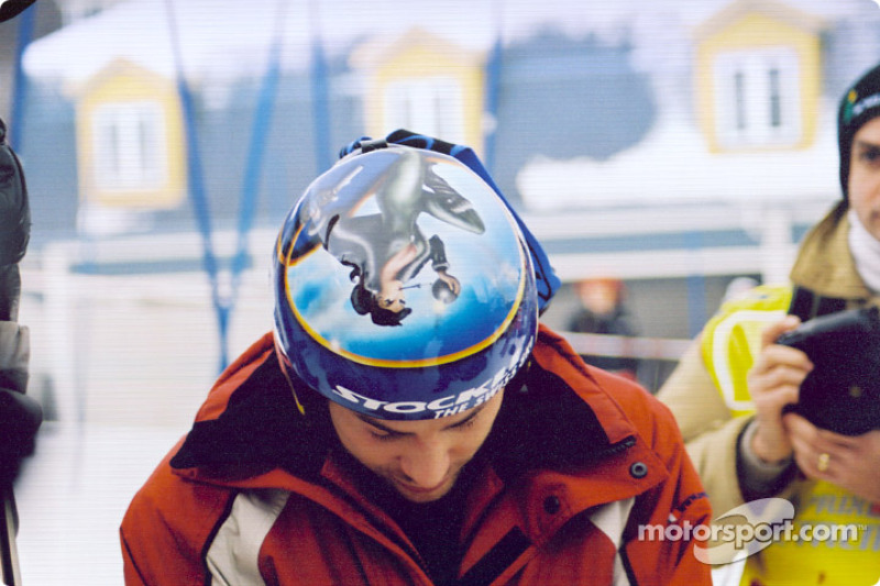 Nice artwork on Jacques Villeneuve's helmet
