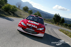 Gilles Panizzi in the new Peugeot 206 WRC 2003