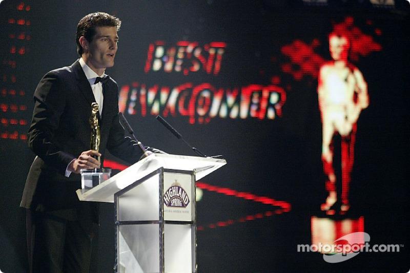 Mark Webber won the Best Newcomer Award