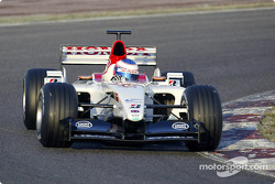 Shakedown for the new BAR Honda 005: Jenson Button
