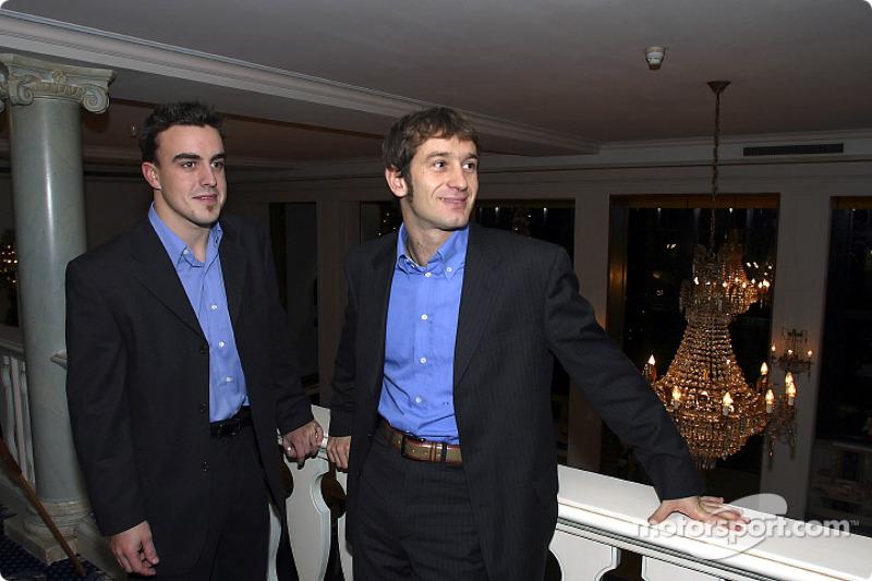 Fernando Alonso and Jarno Trulli