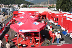 Marlboro Peugeot Total service area in Kemer